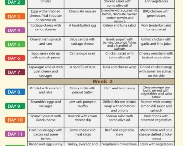 Low Carb Diet Menu